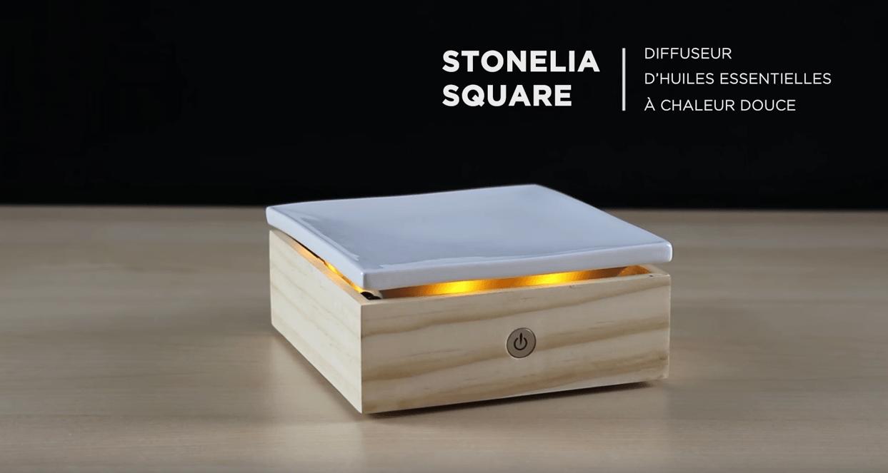Stonelia Square, diffuseur d'huiles essentielles par chaleur douce
